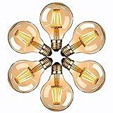 Edison Vintage Glühbirne, Massway LED Vintage Glühbirne E27 G80 4W Warmweiss Antike Filament LED...