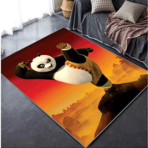 Alfombra De Dibujos Animados En 3D Anime Cute Kung Fu Panda Sala De Estar Dormitorio Habitación De Niños Mesa De Centro Rectangular Creativa Familia Adolescentes Jugar En Casa A Prueba De Sonido Y