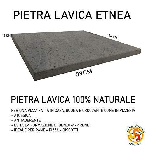 Pizza Pierre Naturelle–Pietra Lavica Dell Etna–Fabriqué en Italie Sicile