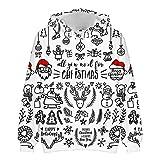 Mr.BaoLong&Miss.GO Otoño E Invierno Suéter Navideño para Hombres Suéter De Pareja Sudadera Deportiva Navideña Chaqueta Navideña Camisa De Fondo