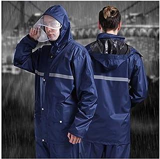 SHUHANX Veste /À Capuche Pliable Adulte Poncho De Pluie Long Rainsuit Hommes Veste Coupe-Vent Rain Parka Gear Poncho Hat Impermiable Rain Suit Women