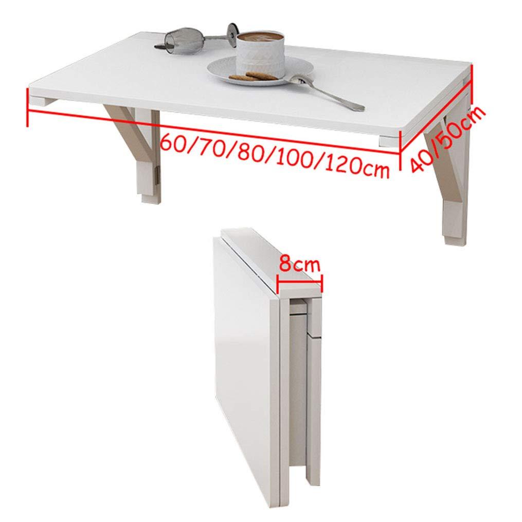 Wall Table Mesa De Pared Blanca,Banco De Trabajo Abatible,Mesa De Estudio Infantil De Madera,Mesa para Laptop, 11 Tamaños: Amazon.es: Hogar