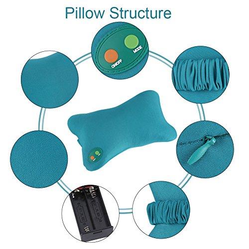 Pasamer eléctrico Suave Almohada vibración Cuello Espalda Inicio Coche amasamiento masajeador Alivio del Dolor