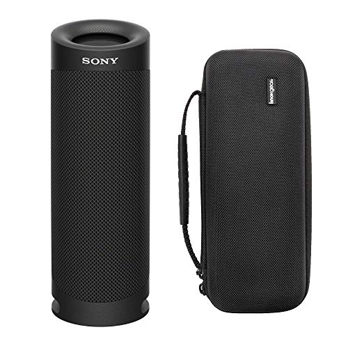 Sony SRSXB23 Extra BASS Bluetooth Wireless Portable Speaker (Black) Knox Gear Hardshell Travel & Protective Case Bundle (2 Items)