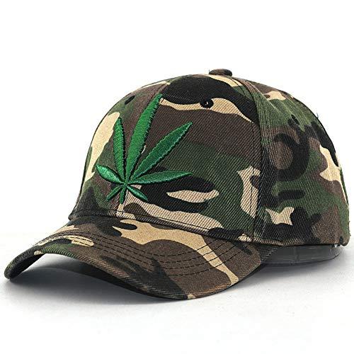 N/A Gorra de Beisbol Moda 3D Bordado Maple Leaf Cap Weed Gorra de béisbol para Hombres Mujeres algodón Swag Hip Hop Equipado Sombreros Ajustables Nuevo