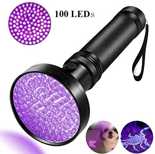 UV Flashlight, HD HARUDONE UV Light 100 LEDs Pet Dog Cat Urine Stains Scorpion Bed Bug Detector Light 395 nm Ultraviolet Black Lights Inspection