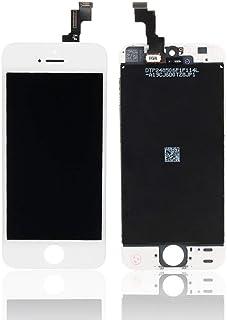 شاشة كاملة خارجية و داخلية لون ابيض لاجهزة ايفون 5 اس ، ابيض