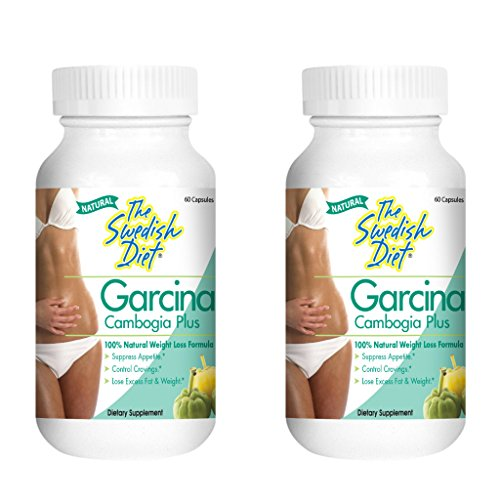 Garcinia Cambogia Extract Weight Loss Supplement   50% HCA per Serving for Fast Fat Burn   Best Appetite Suppressant & Carb Blocker includes Calcium and Chromium 2-Pack 1000mg, 60 Caps. Gluten Free