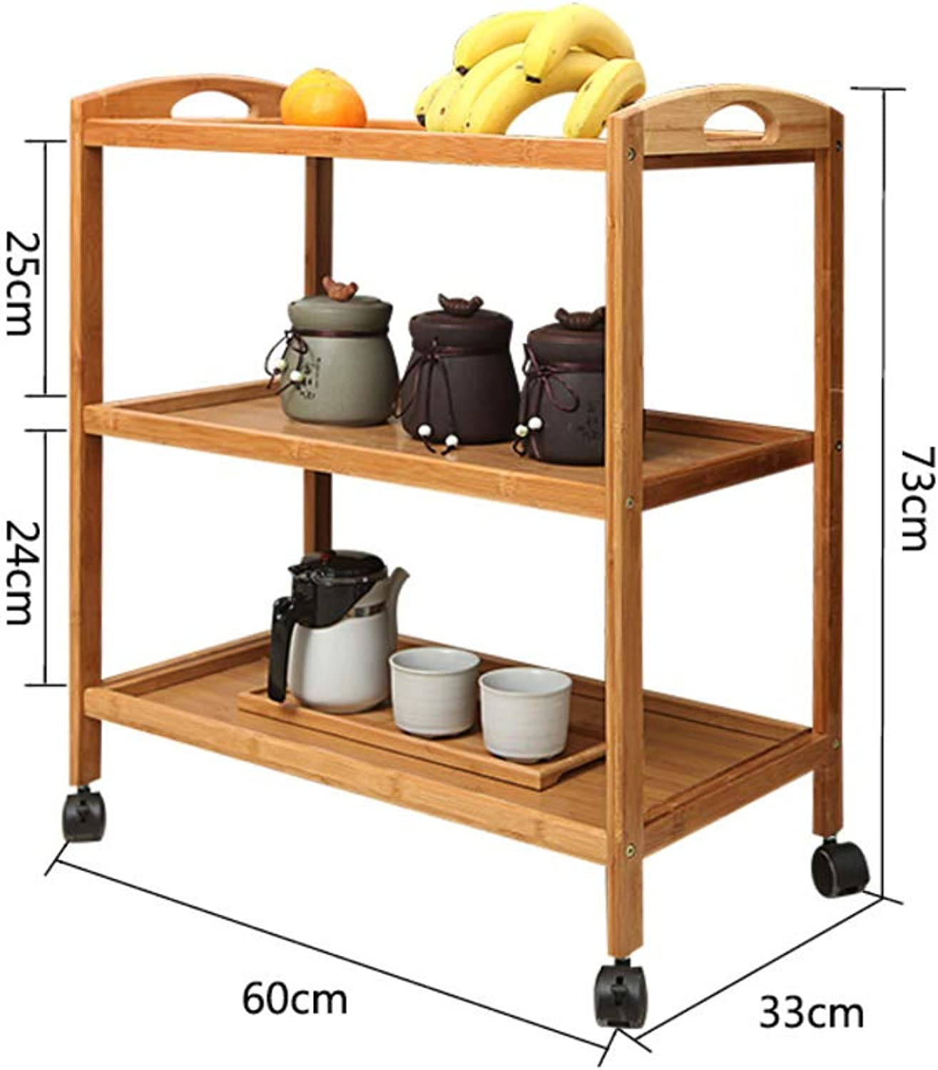 Mobile Dining car,Multi-Layer Cart,Hot Pot Storage Rack Simple Modern Home Serving Cart Kitchen Dining Rolling Cart Trolley -A