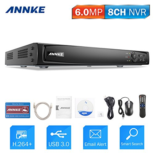 ANNKE 4K NVR 8 Kanal 8MP Netzwerk Video Rekorder, ONVIF 2.4 kompatibel, Aufzeichnungsgerät, Netzwerkrekorder für CCTV Sicherheit Überwachungssystem