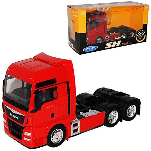 Welly Man TGX 26.440 3 Achser Rot Ab 2007 LKW Truck 1/32 Modell Auto mit individiuellem Wunschkennzeichen