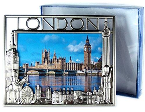 Photo Frames 29610 Cadre photo souvenir en métal effet nickel Motif scènes de Londres