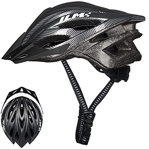 ILM Bike Helmet,Adjustable Lightweight Road Bicycle Helmet,Specialized Bike Helmet for Mens Womens Kids 5-14 Safety Protection(Carbon,Large/X-Large)