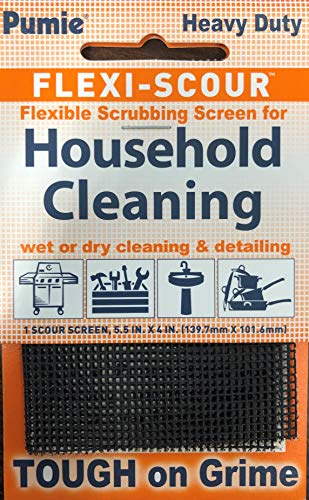 Pumie FlexiScour 1 Pack Flexible Scrubbing Screen for Household Cleaning Flex 48 55quot x 4quot Abrasive Grit Cleaning Screen Clean Grills Remove Carbon Rust and Scale Pack of 1