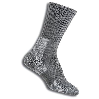 Thorlos Women's TRHXW Max Cushion Trail Hiking Crew Socks, Oyster Grey, Medium