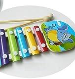 Baby- und Kleinkindspielzeug Kleinkind-Elefant-Muster-Spielzeug-reizendes hölzernes Xylophon-Mode-Schlaginstrument