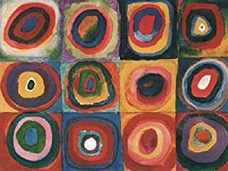 Farbstudie Quadrate Wassily Kandinsky Abstract Cool Warm Colors Modern Poster (Choose Size of Print)