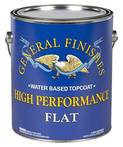 General Finishes High Performance Water Based Topcoat, 5 Gallon, Flat