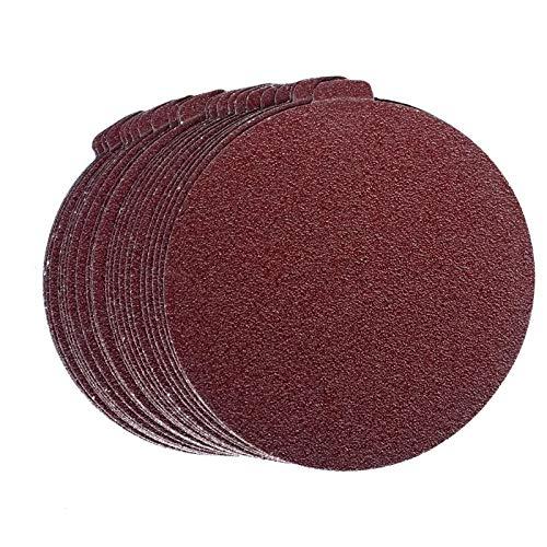 Self Stick 30 PCS 8-Inch NO-Hole PSA Aluminum Oxide Sanding Disc SINYUM 5 Each of 80 100 120 180 240 400