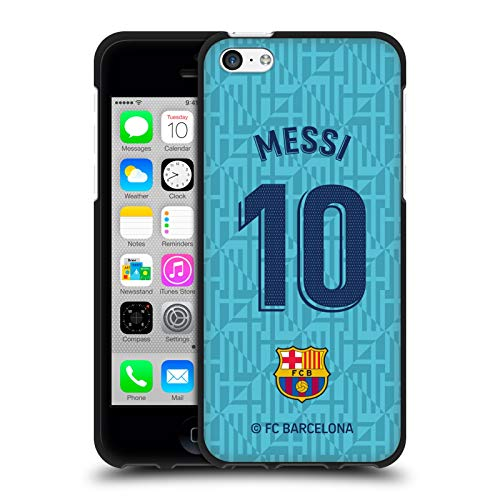 Head Case Designs Officially Licensed FC Barcelona Lionel Messi 2019/20 Players Third Kit Group 1 Black Soft Gel Case Compatible with Apple iPhone 5c