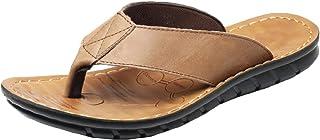 neveraway Mens Sandal | Leather Flip Flops for Men | Waterproof