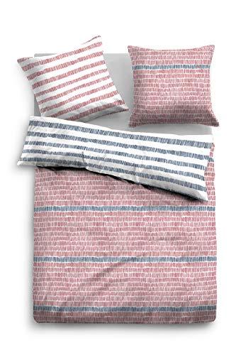TOM TAILOR 0069895 Juego de Cama con Fundas de Almohada Satén de algodón 1x 135x200 cm + 1x 80x80 cm, mauwe