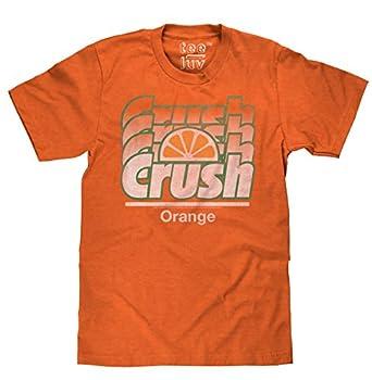 Tee Luv Orange Crush Logo T-Shirt - Vintage Crush Soda Gradient Graphic Tee  Orange Heather   XL