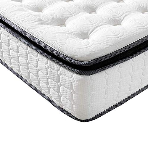 Vesgantti 4FT Small Double Mattress, 10.6 Inch Pocket Sprung Mattress Small Double with Breathable Foam and Individually Pocket Spring - Medium, Upgraded Pillow Top Collection