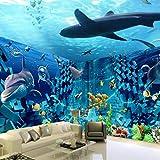 Ocean World Stereo Brick Wall 3D Tema Espacio Fondo Papel De Pared Dormitorio Sala De Estar Mural De Fondo-350 * 245Cm