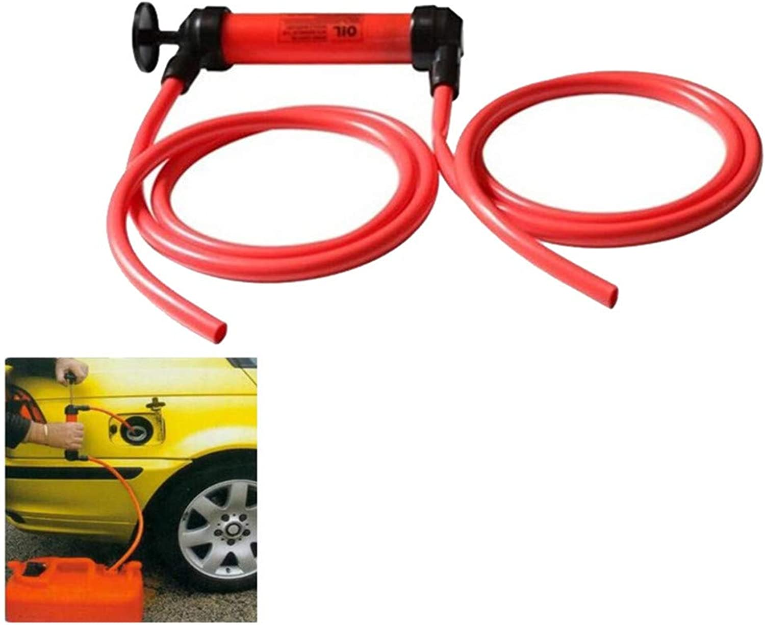 Hand Siphon Transfer Pump,Multi Purpose Syphon Pump, for Fuel Oil Fluid Other Fluids Hand Pump Emergency Pump Transfer