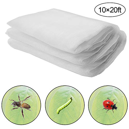 Alpurple Insect Bird Barrier Netting Mesh- 20 x 10 Feet Garden Bug Netting Plant Cover for Protect Plant Fruits Flower from Insect Bird Eating