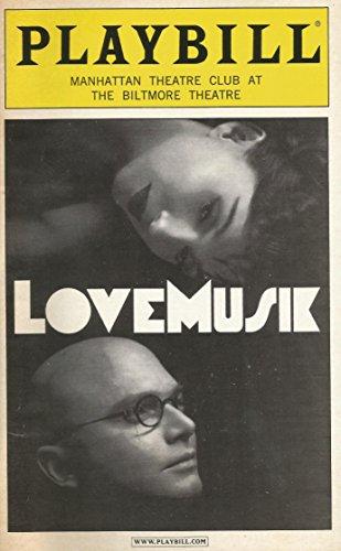 LoveMusik Playbill; Michael Cerverus, Donna Murphy, David Pittu