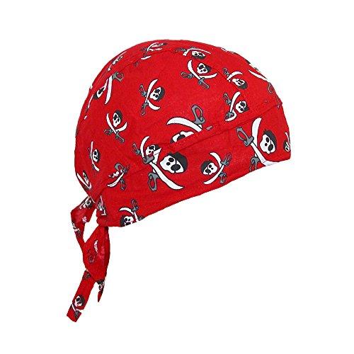CTM Mütze mit Piraten-Motiv, Baumwolle, gekreuzte Messer Gr. Einheitsgröße, rot