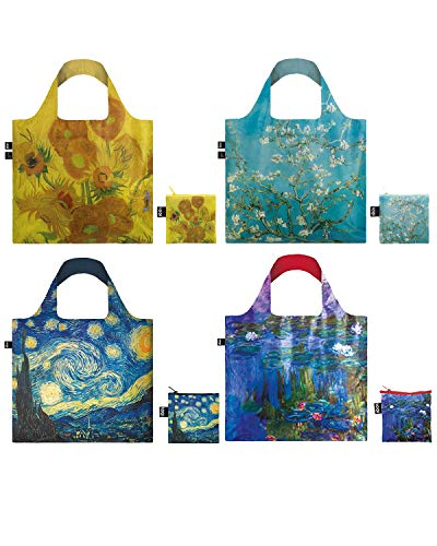 LOQI Museum12 Collection Pouch Reusable Bags, Set of 4