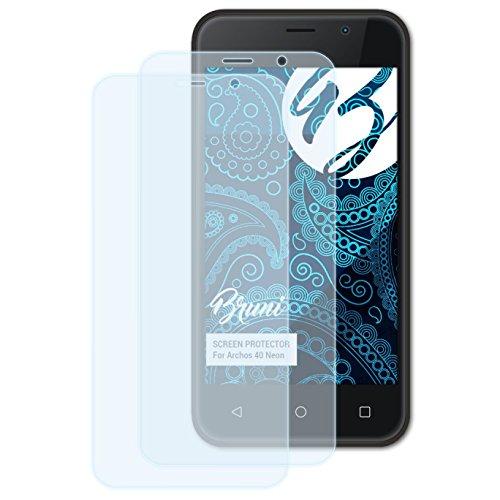 Bruni Schutzfolie kompatibel mit Archos 40 Neon Folie, glasklare Bildschirmschutzfolie (2X)