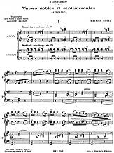 Valses nobles et sentimentales - For Piano 4 Hands (Garban) - Score