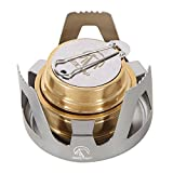 REDCAMP Mini Alcohol Stove for Backpacking, Lightweight Brass Spirit...