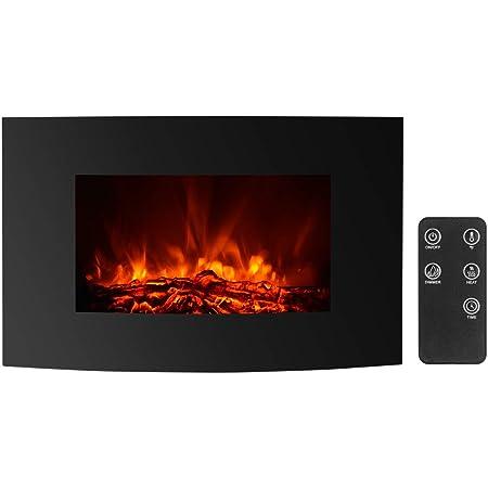 Ajuste de brillo. Chimenea el/éctrica montada en la pared Chimenea con efecto de llama realista en 3D Calentador de chimenea el/éctrico Chimenea simulada con control remoto