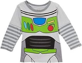 Toddler Little Boys Buzz Lightyear Uniform Layered Long Sleeve Shirt
