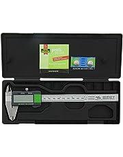 Burg-Wächter digitale schuifmaat met transportbox, 150 mm met borgschroef, meetnauwkeurigheid 0, 01 mm, RECISE PS 7215, grijs/groen