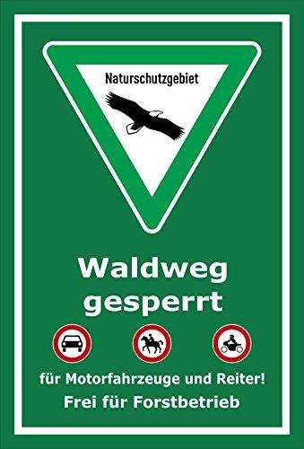 Melis Folienwerkstatt Schild Naturschutzgebiet Waldweg - 30x20cm - 3mm Hartschaum – 20 VAR S00359-038-E