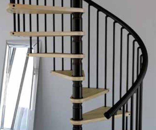 Mister Step Gamia Wood embarazada escalera interior de madera y acero inoxidable