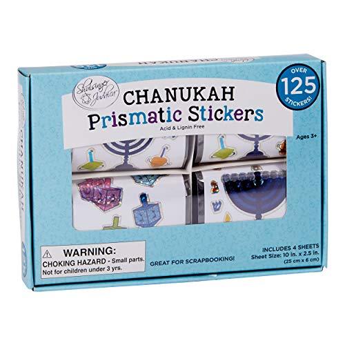 Rite Lite Judaica Prismatic Box Chanukah Aufkleber, 1 EA, mehrfarbig
