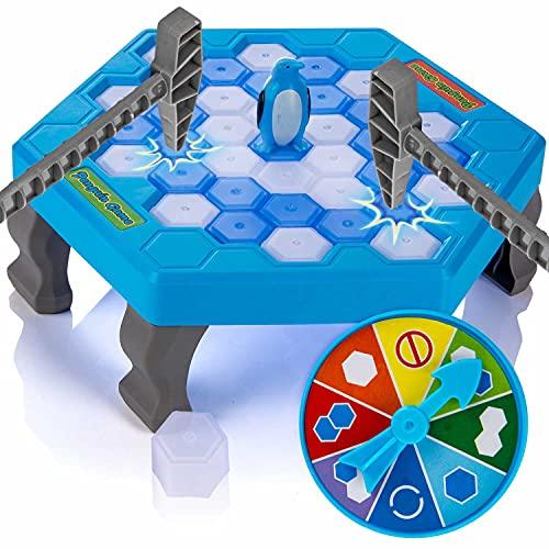 all Kids United® 'Save The Penguin' juego de mesa familiar lleno de acción para niños a partir de 3 años y adultos