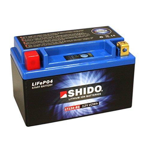 Batterie Shido Lithium LT12A-BS / YT12A-BS, 12V/9,5AH (Maße: 150x87x105) für Suzuki SFV650 A Gladius ABS Baujahr 2011