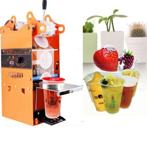 JIAN YA NA 220V électrique Automatique Bubble Tea Cup Tasse de jus d'étanchéité Fruit Machine Scellant