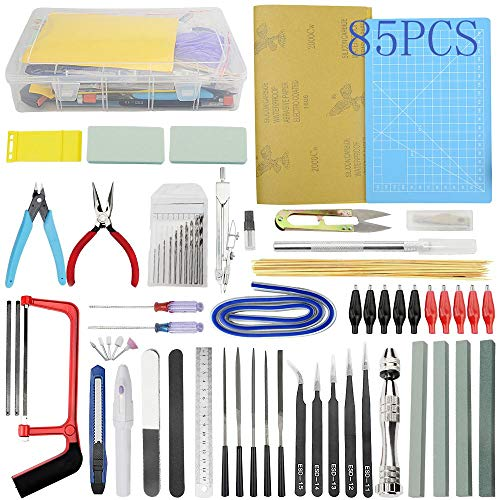 Bigstone 85 PCS Gundam Model Tools Kit Hobby Building Tools Set for Cars, Airplanes, Buildings, Gundam, Robots Models Building Repairing and Fixing ext.