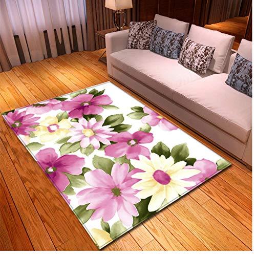 3D Florals Teppich Flanell Memory Foam Weiche Teppiche Schlafzimmermatten Bodenteppiche Pastorale Teppiche für Wohnzimmer