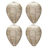 4 Uds nido de avispa señuelo colgante papel falso nido de avispa conducción colmena linternas nido de abeja repelente de plagas de jardín