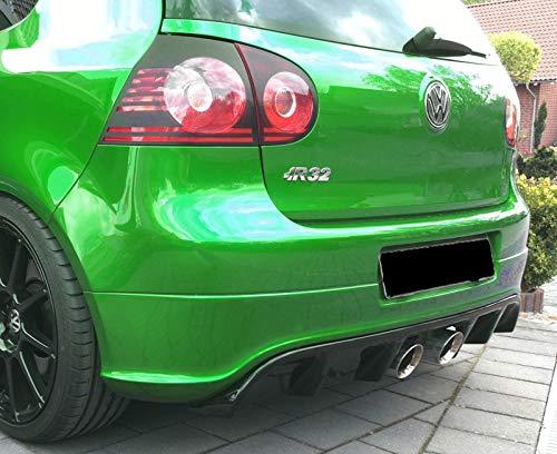 Cup Diffusor Ansatz R32 Look schwarz matt unlackiert kompatibel für Golf 5 V Typ 1K Limo Bj. 03-08 Heckansatz Heckschürze Heckdiffusor Heck Ansatz Rear ABS mit ABE NEU Gutachten IN